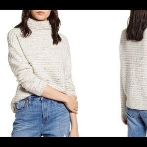 Madewell Donegal Beltmont Mockneck Sweater XXL